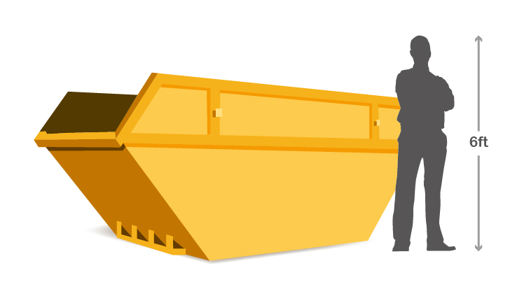 8 Yard Skip | Traditional Builders Skip for all waste types |Skip Hire UK